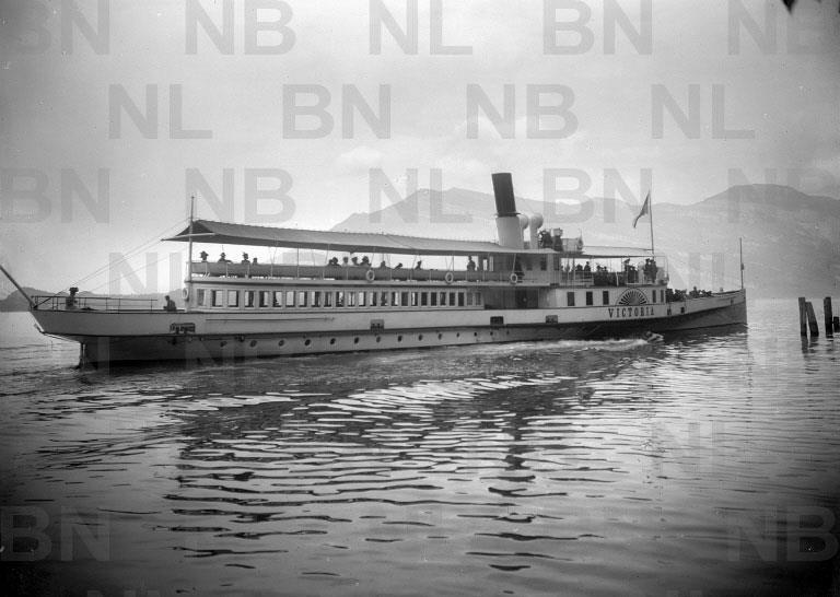 Ead Phal 1633 B Vierwaldstattersee Dampfschiff Victoria 1890 Ca
